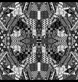 black and white kaleidoscope patchwork background vector image vector image