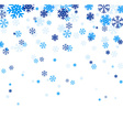 Blue falling snowflakes vector image