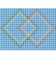blue mosaic - seamless wallpaper vector image vector image