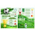 brochure for soccer sport football game vector image vector image