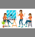 business woman character environment vector image