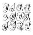 Calligraphy lettering script font i set hand