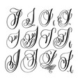calligraphy lettering script font i set hand vector image