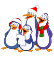 Caroling penguins vector image