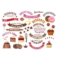 Chocolate pastries and desserts design elements vector image
