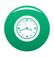 clock design icon green vector image