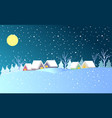 colorful winter town background vector image