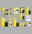 corporate identity template set and business vector image vector image