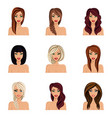 create change of hairstyle choices for girls vector image