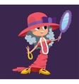 Cute fashion small girl clothing like mother vector image