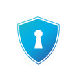 cyber security concept shield with keyhole icon vector image