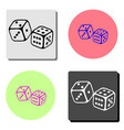 dices flat icon vector image