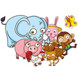 Different kind of cute animals vector image vector image