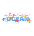 divers cleaning garbage in ocean concept male and vector image vector image