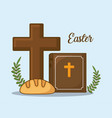 easter celebration design vector image vector image