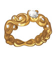 exclusive ring made of gold with inlaid diamonds vector image vector image