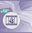 film icon on purple abstract modern background vector image