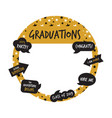 golden party photo booth and graduation elements vector image vector image