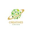 green earth logo design vector image