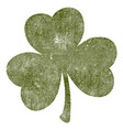 grunge isolated clover vector image vector image