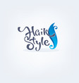 hair style handdrawn lettering composition and vector image