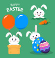 happy easter day background vector image vector image