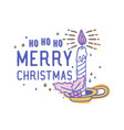 ho ho ho merry christmas text handwritten with vector image vector image