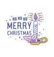 ho ho ho merry christmas text handwritten with vector image