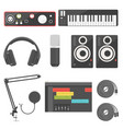 home recording equipment for music production vector image vector image