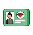 id card identity photo personal document vector image vector image