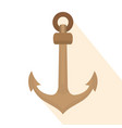 isolated anchor icon vector image vector image