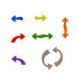 isolated colorful arrows set vector image vector image