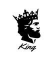 king symbol logo black white style vector image vector image