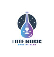 lute musical instrument logo vector image vector image