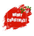 merry christmas with red blobs banner vector image vector image