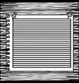 monochrome striped notebook sheet in blank on wood vector image vector image
