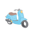moped stands color pattern vector image vector image