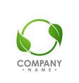 nature logo for health company icon concept vector image vector image