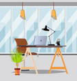 office interior office with furniture vector image vector image