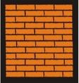 Orange Brick Wall Clip Art vector image