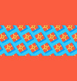 pattern from gift boxes orange present boxes on vector image vector image