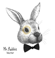 portrait of a rabbit vector image vector image
