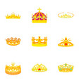 princely icons set cartoon style vector image