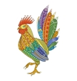Rooster domestic farmer bird for Coloring pages vector image vector image