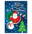 Santa Christmas Text and Tree vector image vector image