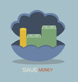 Save money on Nacre concept vector image