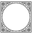 scandinavian folk greeting card design vector image vector image