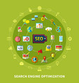 search engine round composition vector image vector image