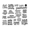 set 18 halloween party hand lettering vector image