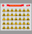 set of hazard sign safety vector image